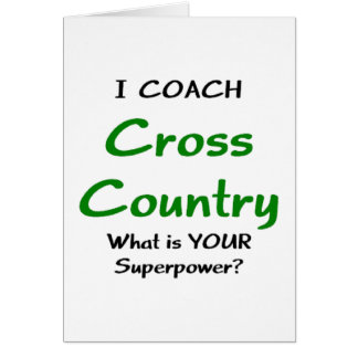 I coach cross country greeting card