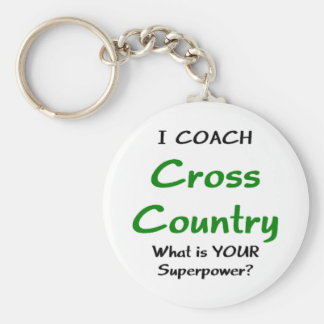 I coach cross country keychain