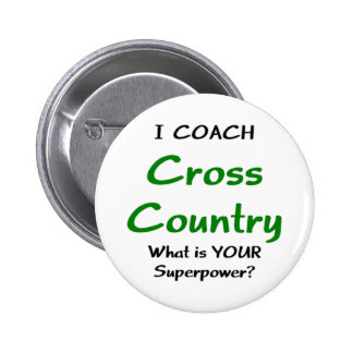 I coach cross country pinback button