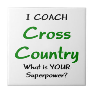 I coach cross country small square tile