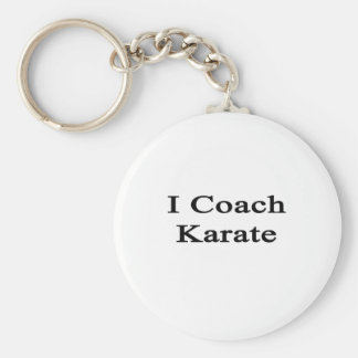 I Coach Karate Basic Round Button Keychain