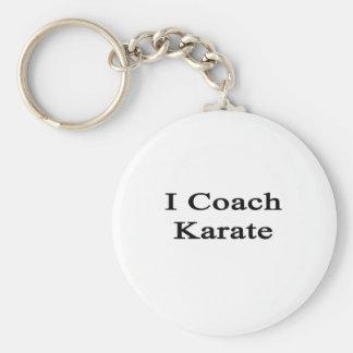 I Coach Karate Keychain