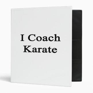 I Coach Karate Vinyl Binders