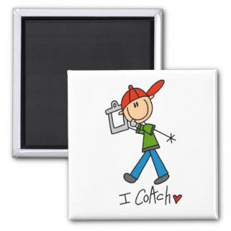 I Coach T-shirts and Gifts 2 Inch Square Magnet