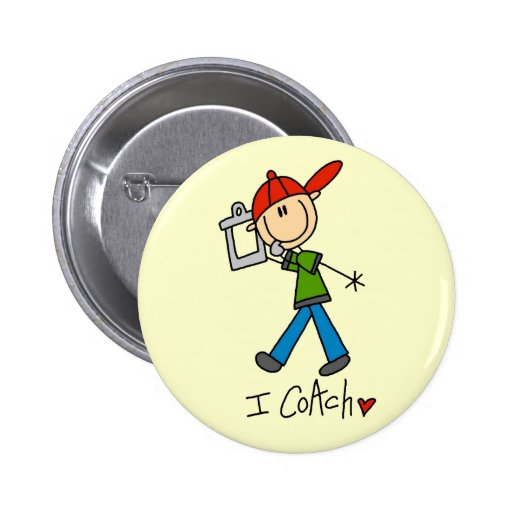 I Coach T-shirts and Gifts Pinback Button