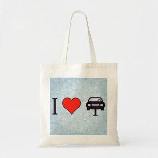 I coches de remolque del corazón bolsa tela barata