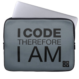 I Code Therefore I Am Laptop Computer Sleeves