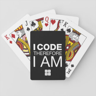 I Code Therefore I Am Playing Cards