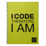 I Code Therefore I Am Spiral Notebooks