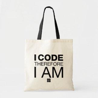 I Code Therefore I Am Tote Bag