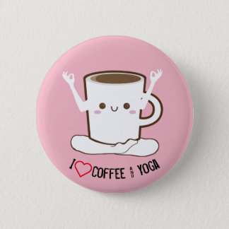I ❤ Coffee and Yoga Pinback Button