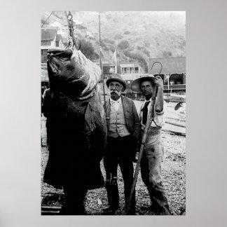 I cogió una vez un pescado esta impresión grande póster