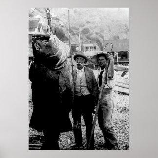 I cogió una vez un pescado este poster grande
