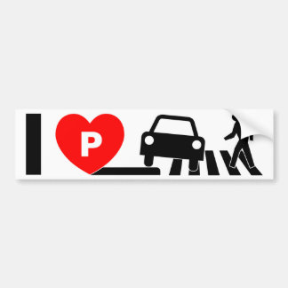 I COIL CARPARK ONE SIDEWALKS AND STREAKED BUMPER STICKER