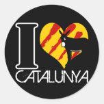 I Coil Catalunya Round Sticker