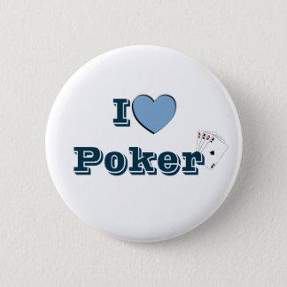 I Coil Poker Pinback Button