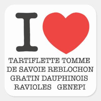 I Coil Tartiflette Square Sticker
