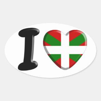 I coils Pays Basque Oval Sticker
