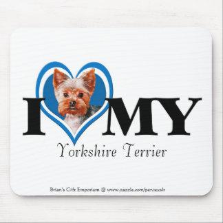 I cojín del Terrier-Azul-Ratón de Yorkshire del co Tapete De Raton