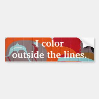 I Color Outside the Lines Artist Bumper Sticker