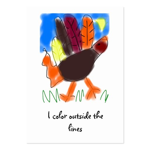 I Color Outside the Lines Business Card
