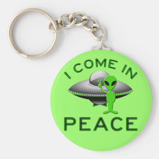 I COME IN PEACE - ALIEN KEYCHAIN