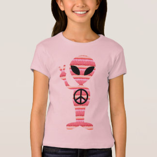 I Come In Peace Alien Peace Sign T-Shirt