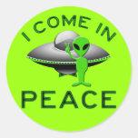 I COME IN PEACE - ALIEN STICKERS