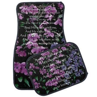 I Come to the Garden Alone Floral Car Mat Set
