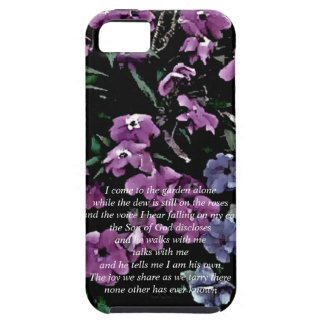 I Come to the Garden Alone Floral iPhone 5 Cases