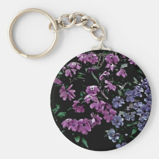 I Come to the Garden Alone Floral Keychain