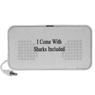 I Come With Sharks Included Laptop Speakers