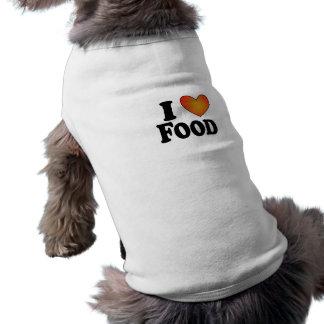 I comida (del corazón) - camiseta del perro camisetas de perrito