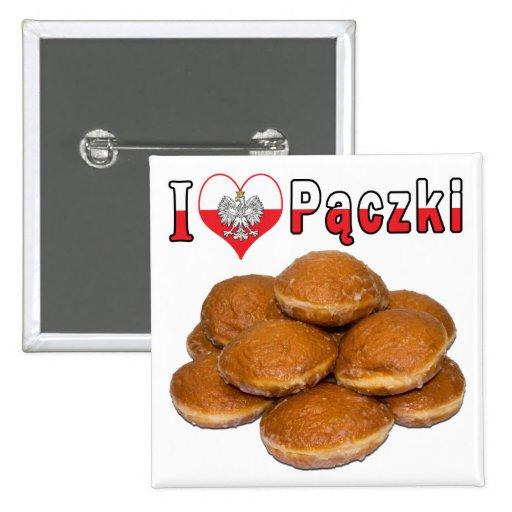 I comida polaca de Paczki del corazón Pin