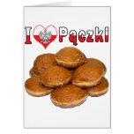 I comida polaca de Paczki del corazón Tarjeta