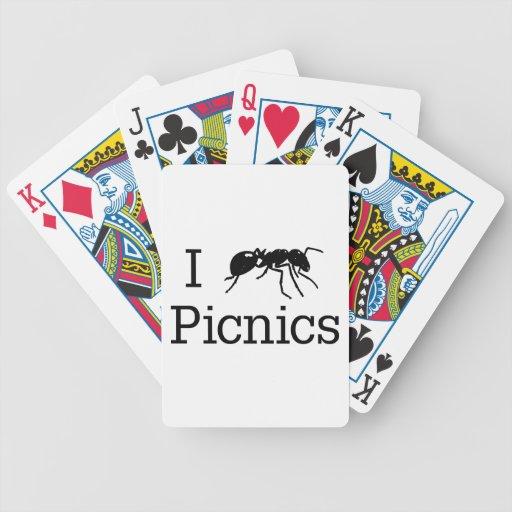 I comidas campestres de la hormiga baraja cartas de poker