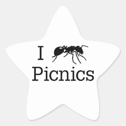 I comidas campestres de la hormiga calcomanía forma de estrella