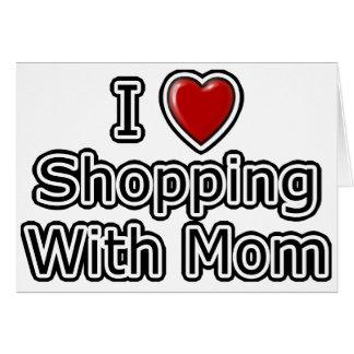I compras del corazón con la mamá tarjeta de felicitación