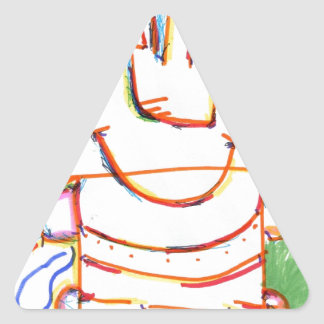 I Computer Triangle Sticker