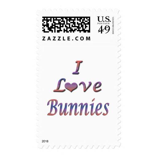 I conejitos del corazón (amor) sellos