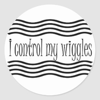 I control my wiggles stickers