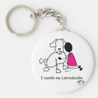 I coodle my Labradoodle Keychain