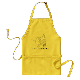 I Cook For My Pit Bull Apron