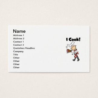 I Cook - Male Chef Business Card