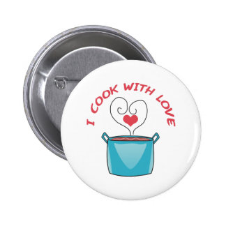 I COOK WITH LOVE 2 INCH ROUND BUTTON