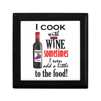 I Cook With Wine Keepsake Box
