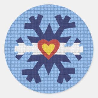 I copo de nieve de la bandera de Colorado del cora Pegatina