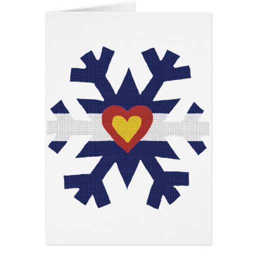 I copo de nieve de la bandera de Colorado del cora Tarjetas