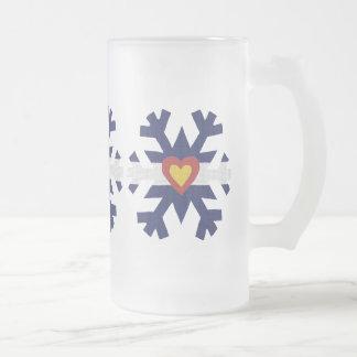 I copo de nieve de la bandera de Colorado del Taza De Cristal