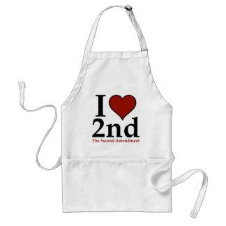I corazón 2do segunda enmienda delantal
